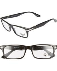 50d2b97bff Lyst - Persol 53mm Rectangle Optical Glasses in Black for Men