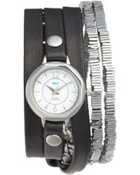 La Mer Collections - 'highline' Leather & Stone Wrap Watch - Lyst
