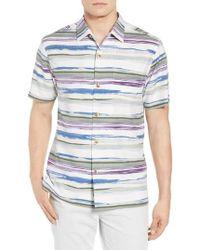 Tommy Bahama - Hazy Horizons Silk Blend Camp Shirt - Lyst