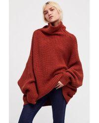 Free People - Swim Too Deep Turtleneck Sweater - Lyst