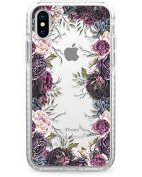 Casetify - My Secret Garden Transparent Iphone X/xs Case - Purple - Lyst