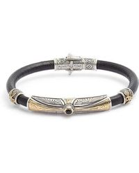 Konstantino - Stavros Leather Bracelet With Onyx - Lyst