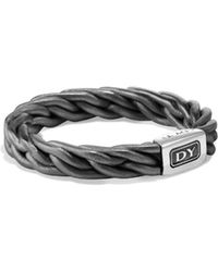 David Yurman - Titanium Band Ring - Lyst