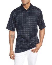 Bugatchi - Grid Mercerized Cotton Polo - Lyst