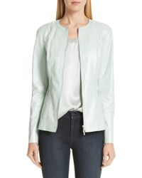 Lafayette 148 New York - Janella Leather Jacket - Lyst
