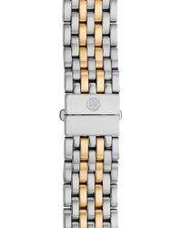 Michele - Deco 18mm Two-tone Bracelet Watchband - Lyst