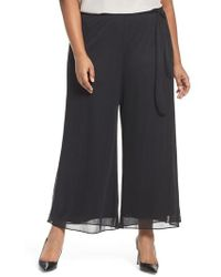 Alex Evenings - Tie Waist Wide Leg Pants - Lyst