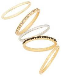 Madewell | Set Of 5 Filament Stackable Rings | Lyst