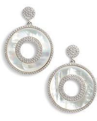 Nina - Mother Of Pearl Drop Earrings - Lyst