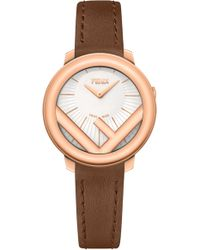 Fendi - Run Away Leather Strap Watch - Lyst