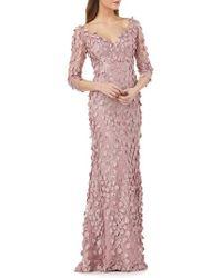 Carmen Marc Valvo - 3d Novelty Gown - Lyst