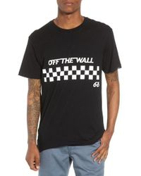 Vans - Off The Wall Checks Graphic T-shirt - Lyst
