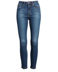 Articles of Society - Heather High Waist Crop Skinny Jeans - Lyst