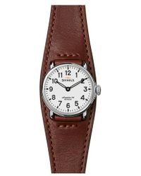 Shinola - Runwell Leather Strap Watch - Lyst