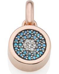 Monica Vinader - Evil Eye Diamond Pendant Charm - Lyst