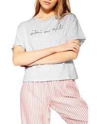 TOPSHOP - Follow Your Dreams Tee - Lyst
