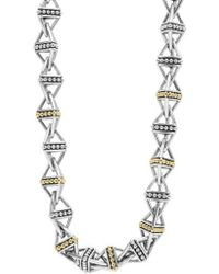 Lagos - Ksl Pyramid Link Chain Necklace - Lyst