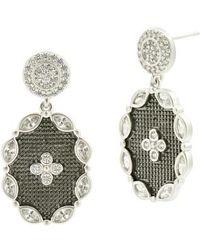 Freida Rothman - Industrial Finish Drop Earrings - Lyst