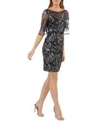 Carmen Marc Valvo - Sequin Embellished Sheath Dress - Lyst