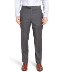 John W. Nordstrom - John W. Nordstrom Torino Traditional Fit Flat Front Check Trousers - Lyst