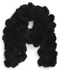 La Fiorentina - Genuine Rabbit Fur Scarf - Lyst