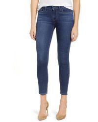 PAIGE - Transcend - Verdugo Crop Skinny Jeans - Lyst