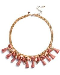 Rebecca Minkoff | Bauble & Tassel Collar Necklace | Lyst