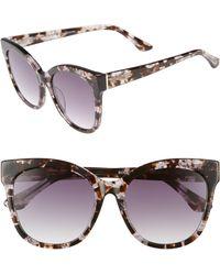 Chelsea28 - Bossa Nova 57mm Cat Eye Sunglasses - Nude Grey Tortoise - Lyst