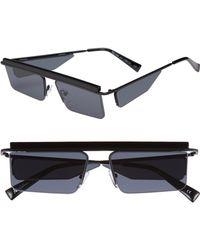 Le Specs - The Flex 55mm Semi Rimless Sunglasses - - Lyst