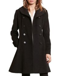 Lauren by Ralph Lauren - Fit & Flare Military Coat - Lyst