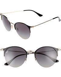 467f7311860 Ray-Ban - 50mm Blaze Clubmaster Mirrored Sunglasses - Lyst
