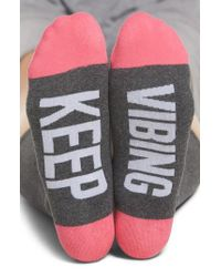 Sockart - Keep Vibing Crew Socks - Lyst