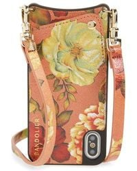 Bandolier - Emma Iphone X & Xs Leather Crossbody Case - Lyst
