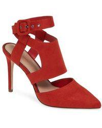 BCBGMAXAZRIA - Heather Pointy Toe Ankle Strap Pump - Lyst