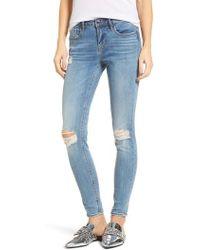 Vigoss - Edie Distressed Skinny Jeans - Lyst