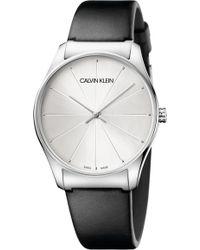 Calvin Klein - Classic Leather Strap Watch - Lyst