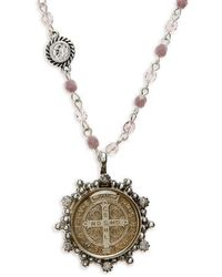 Virgins, Saints & Angels - San Benito Magdalena Rosary Necklace - Lyst