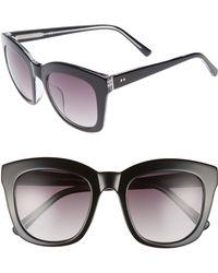 Chelsea28 - Kiri 52mm Sunglasses - Ebony- Silver - Lyst