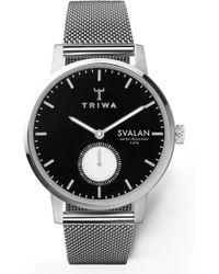 Triwa - Ebony Svalan Mesh Strap Watch - Lyst