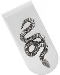 Gucci | Snake Insignia Money Clip - Metallic | Lyst