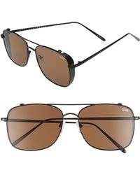 00996d42037 Lyst - Quay Weekend Warrior Square Metal Sunglasses in Metallic for Men