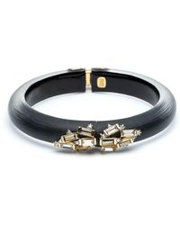 Alexis Bittar - Retro Gold Crystal Baguette Cluster Hinged Bangle - Lyst