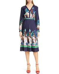 ce1db7681c65b8 Lyst - Ted Baker Ivara Striped Jacquard Tunic Dress in Blue