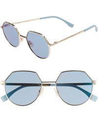 Fendi - 54mm Round Sunglasses - Lyst