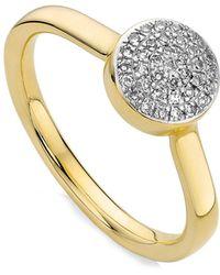 Monica Vinader - Ava Diamond Button Ring - Lyst