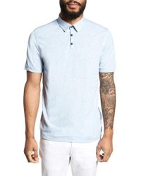 Calibrate - Heathered Polo - Lyst