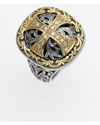 Konstantino - 'diamond Classics' Diamond Cross Two-tone Ring - Lyst