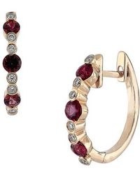 Bony Levy - Ruby & Diamond Hoop Earrings (nordstrom Exclusive) - Lyst