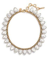 Loren Hope | 'sylvia' Crystal Collar Necklace | Lyst