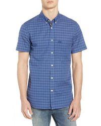 Lacoste - Slim Fit Check Cotton & Linen Sport Shirt - Lyst